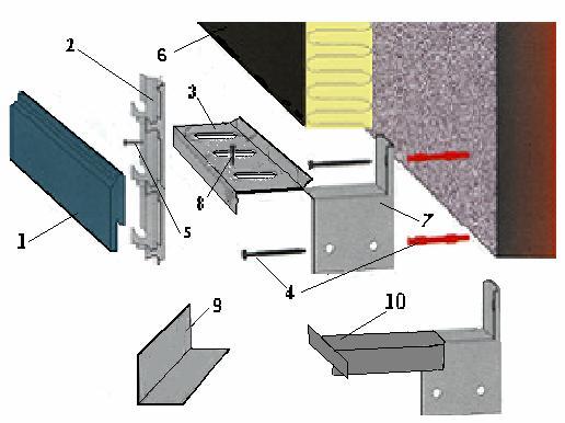 Вентилируемый фасад Scanroc (Сканрок)