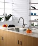 Кухонный смеситель (нержавейка) Kraus KPF-2121