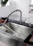 Кухонный смеситель (нержавейка) Kraus KPF-2140