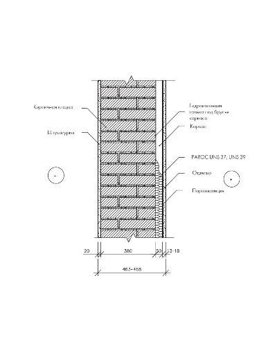 Утепление существующей кирпичной стены с внутренней стороны с применением деревянного каркаса