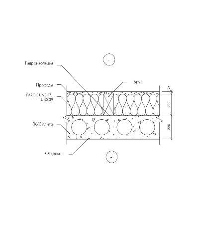 Утепление перекрытия и устройство проходов при холодной мансарде