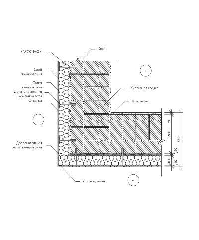 Утепление кирпичной стены плитой Paroc FAS 4